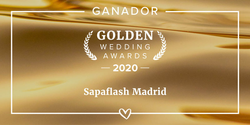 Sapaflash premio Golden Wedding Awards 2020